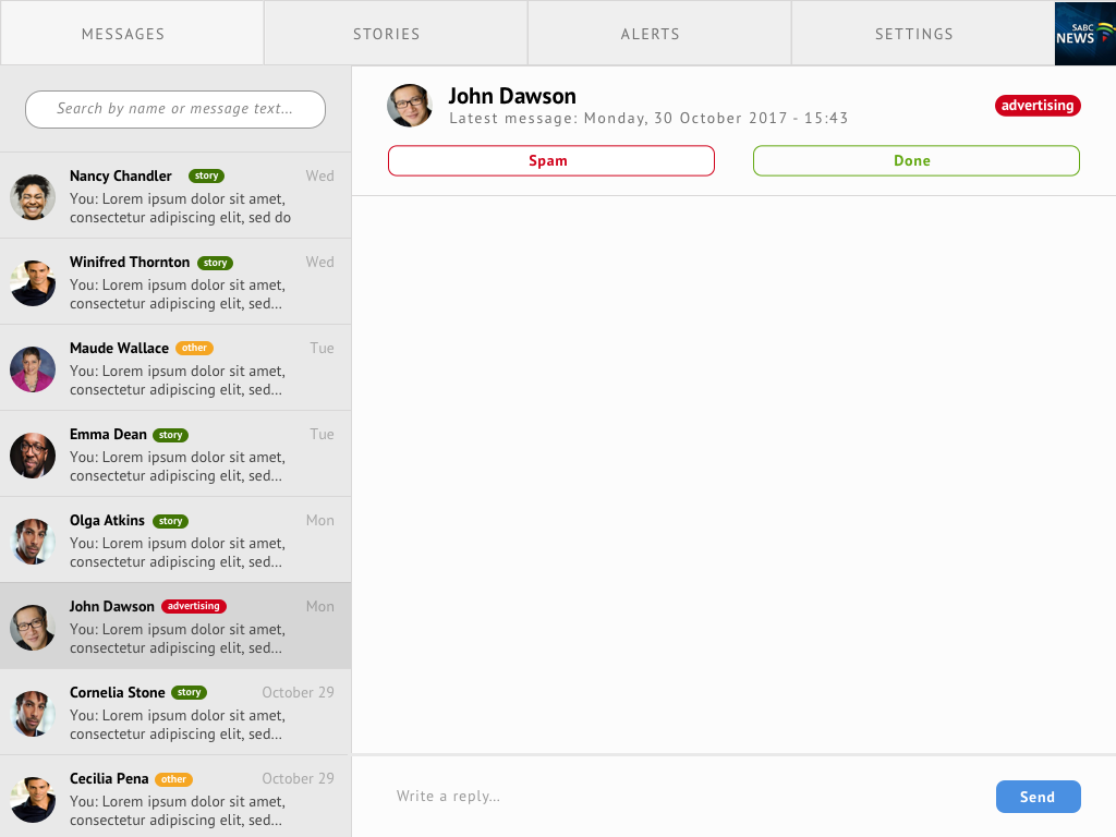Dashboard designed for sprint 3